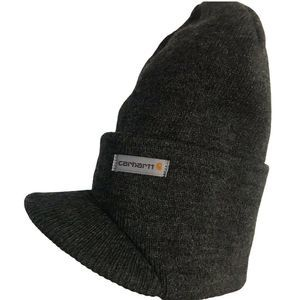Carhartt Knit Hat with Visor in Coal Heather